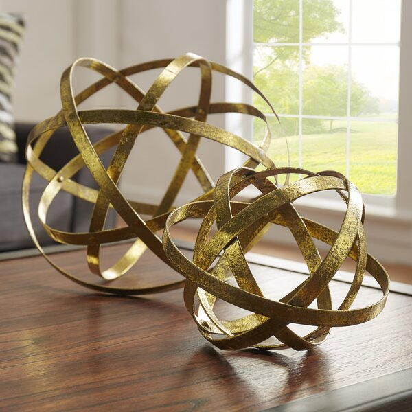 2 Piece Sphere Sculpture Set by Mercury Row