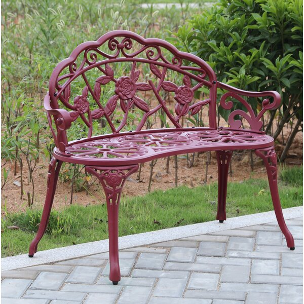 Stratton Steel Garden Bench by Fleur De Lis Living