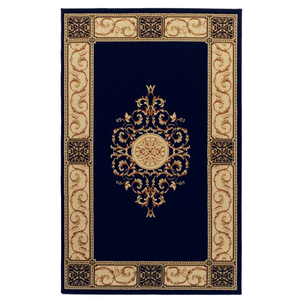 Dodington Machine Woven Polypropylene Midnight Blue Blue Area Rug by Astoria Grand