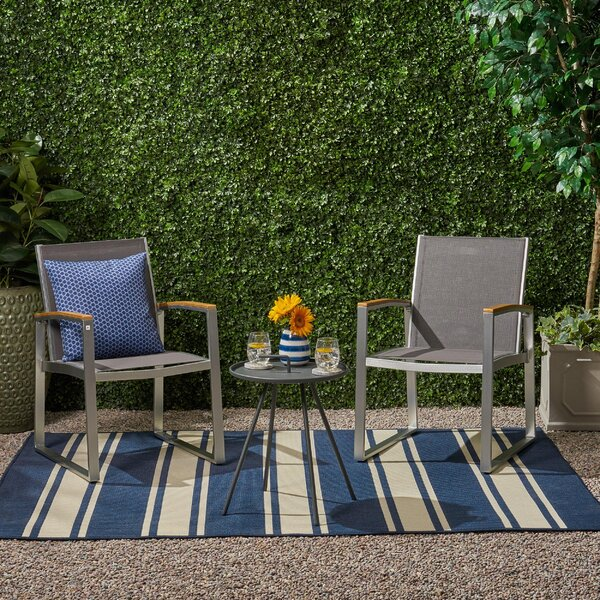 Hively Outdoor 3 Piece Seating Group by Ebern Designs