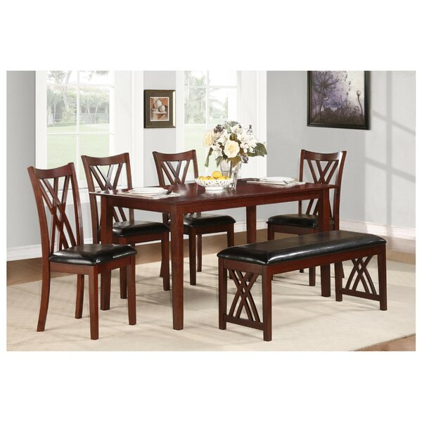 Sobel Dinette 6 Piece Solid Wood Dining Set by Red Barrel Studio
