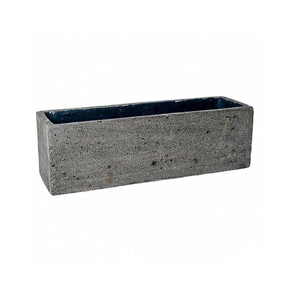Gledhill Rectangular Fiber Stone Planter Box by Williston Forge