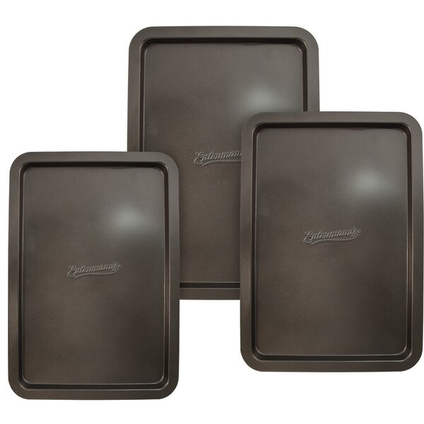 Non-Stick 3 Piece Classic Cookie Sheet Set by Entenmann's Bakeware
