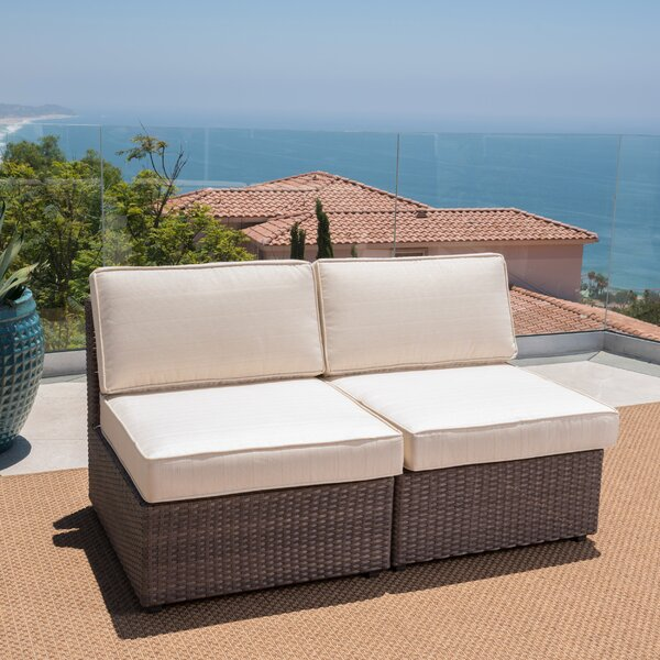 Bobbi Outdoor Patio Chair with Cushions (Set of 2) by Highland Dunes