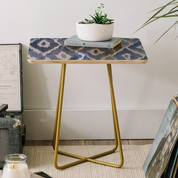 Natalie Baca Painterly Ikat End Table by East Urban Home East Urban Home