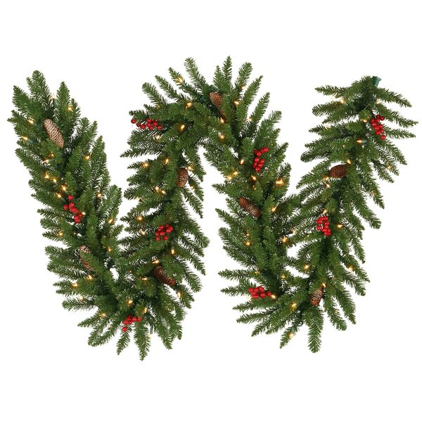 Frosted Edina Fir Christmas Garland with Lights by Vickerman