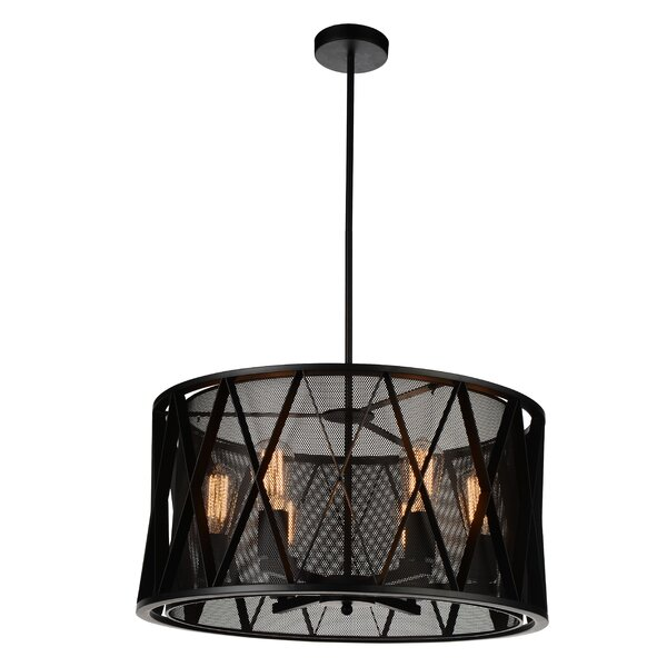 Thomason 6-Light Shaded Drum Chandelier By Williston Forge