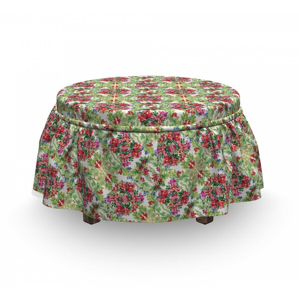 Lily Bouquet Ottoman Slipcover (Set Of 2) By East Urban Home