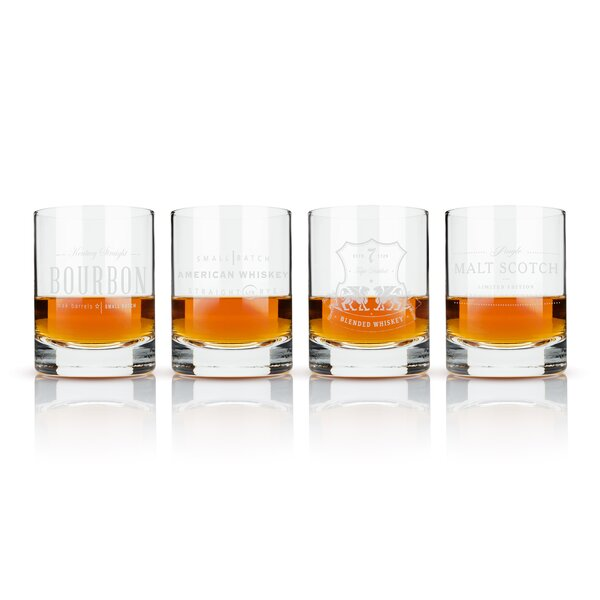 Admiral 4 Piece 8 oz. Crystal Cocktail Glass Set by Viski