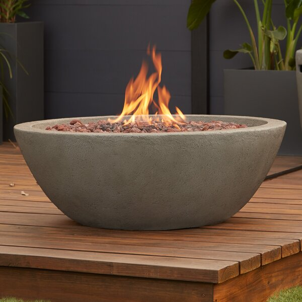 Riverside Concrete Natural Gas Fire Pit by Real Flame