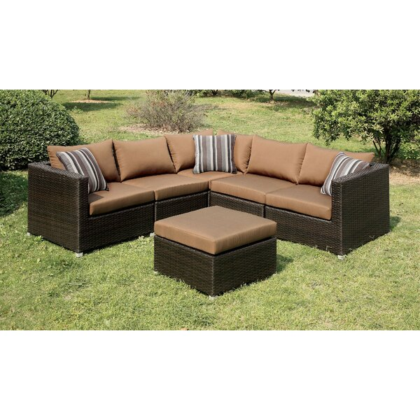 Horwich 4 Piece Sectional Seating Group with Cushions by Brayden Studio