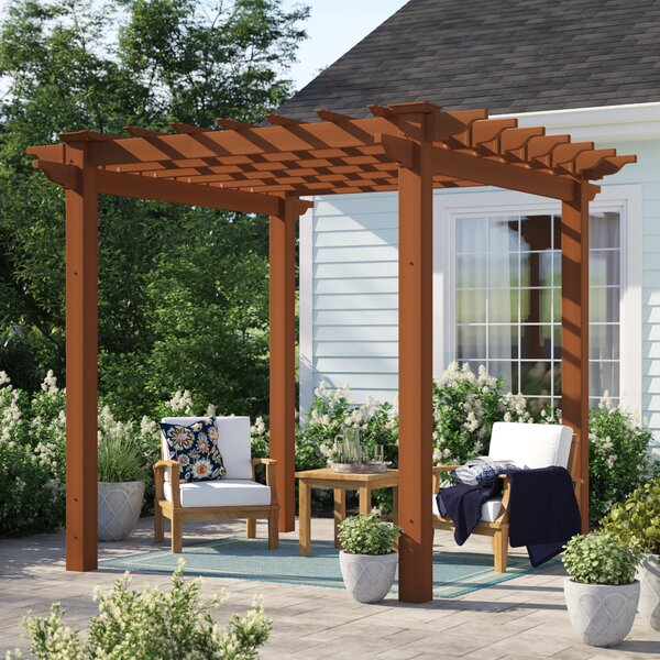 Ansonia 6.5 Ft. W x 6.5 Ft. D Vinyl Pergola by Sol 72 Outdoor