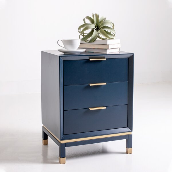 Doylestown Solid Wood 3 Drawer End Table By Mercer41