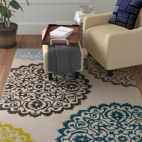 Couture Hand-Tufted Beige Area Rug by Red Barrel Studio