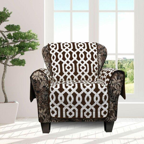 Islip Geometric Box Cushion Armchair Slipcover By Alcott Hill