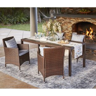 Sarver 5 Piece Dining Set with Cushions By Ivy Bronx