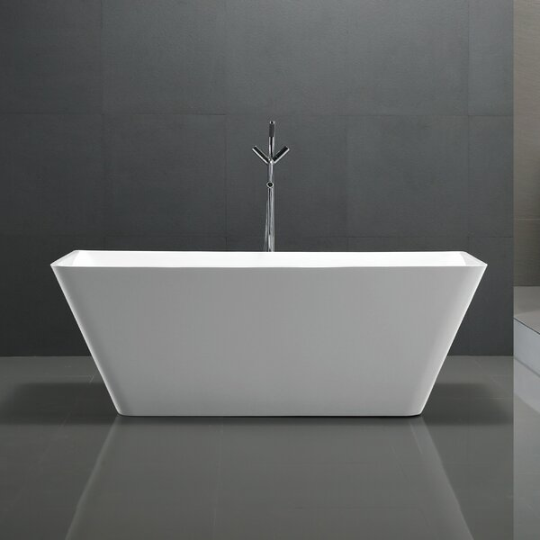 Zenith Series 67'' x 31.5'' Freestanding Soaking Bathtub by ANZZI
