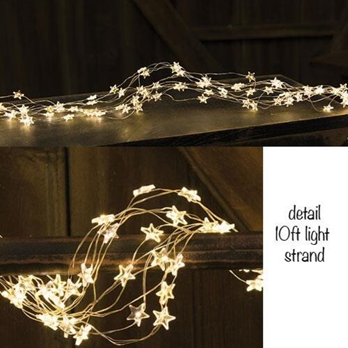 LED Star String Lights by The Holiday Aisle