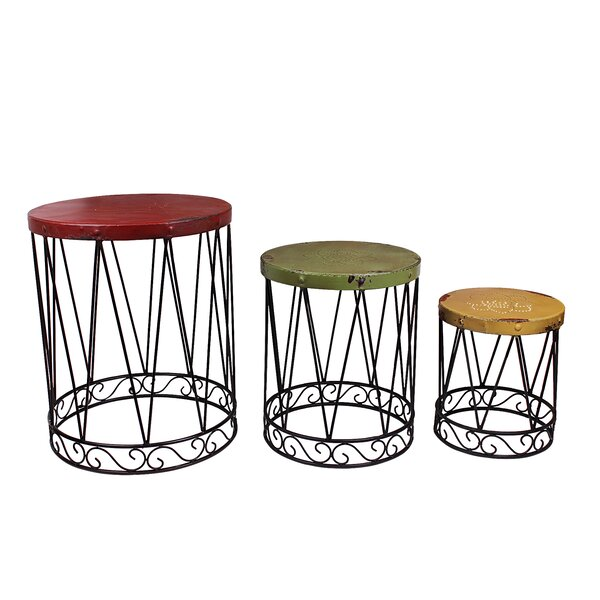 Nostalgia 3 Piece Nesting Tables by Attraction Design Home