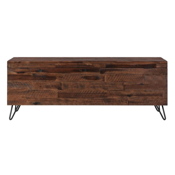 Itasca Wood Flip Top Storage Bench By Millwood Pines