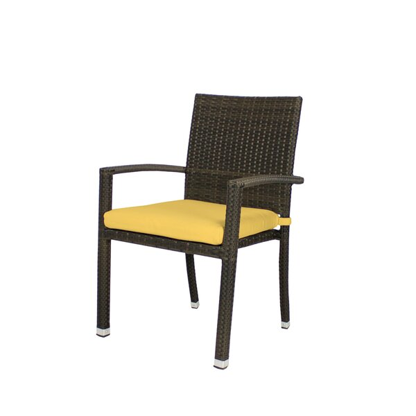 Rorie Stacking Patio Dining Chair with Cushion by Brayden Studio
