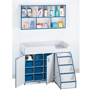 Rainbow Accents Wall Organizer Changing Table ByJonti-Craft