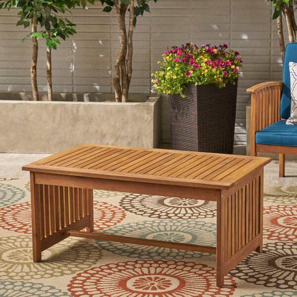 Safira Solid Wood Coffee Table by Beachcrest Home