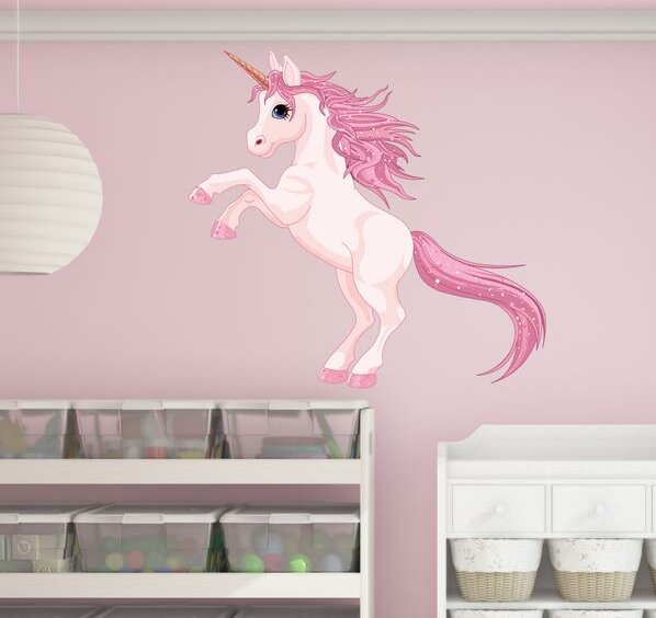 Pretty Unicorn Wall Decal by Style and Apply