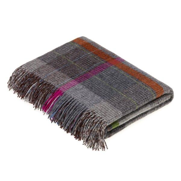 Buckelew Merino Patchwork Wool Throw by Gracie Oaks