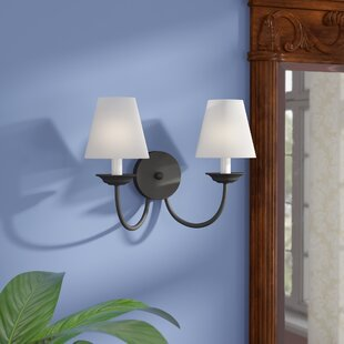 Reviews Whitaker 2-Light Wall Sconce By Andover Mills