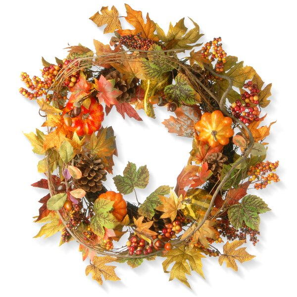 Decorated Maple Leaf Wreath by National Tree Co.