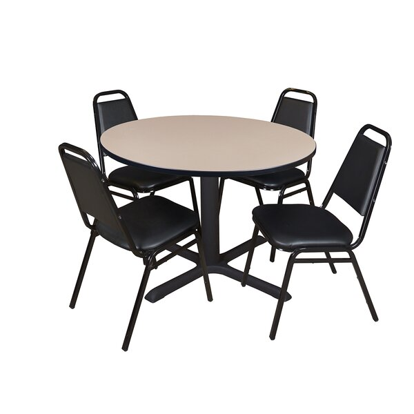 Hendrix Round Breakroom Table Set by Symple Stuff