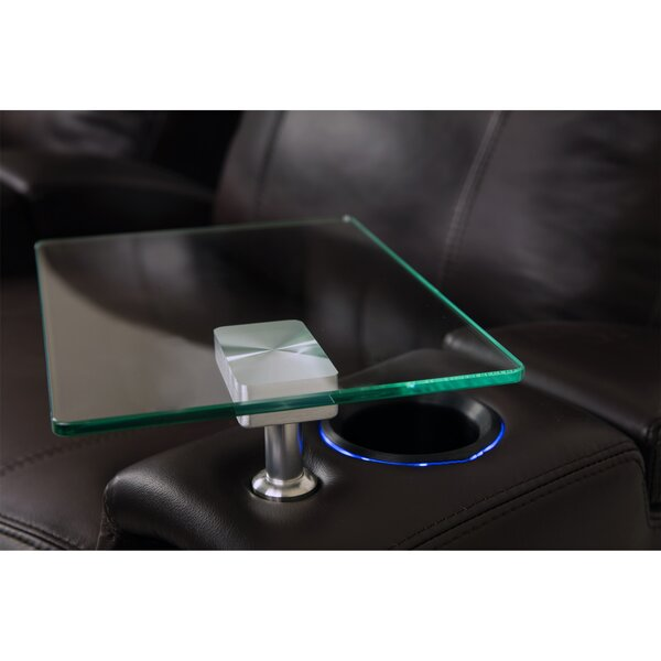 Baldree Home Theater Premium Glass Table by Ebern Designs