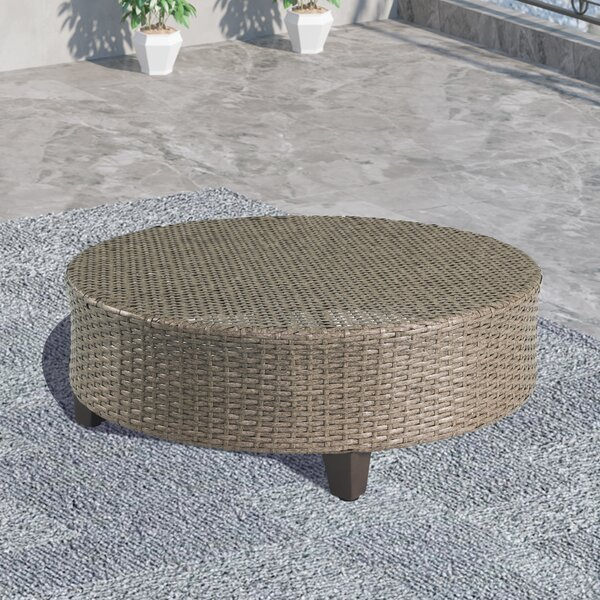 Reza Wicker Coffee Table by Highland Dunes