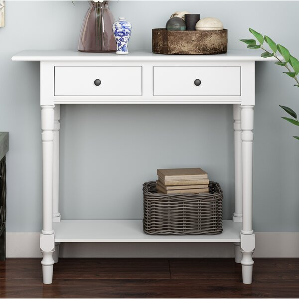 Cable Knit Console Table by Three Posts