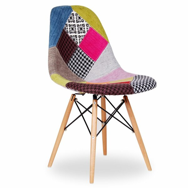 Gossage Patchwork Upholstered Dining Chair by Wrought Studio