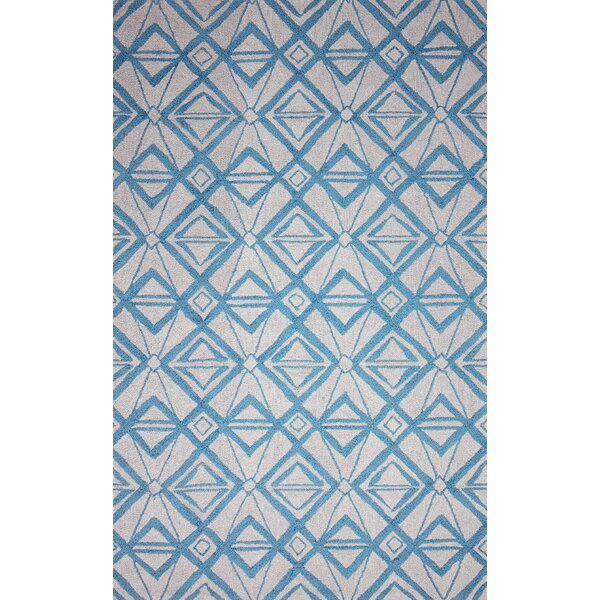 Novel Imture Hand-Hooked Light Blue Outdoor Area Rug by nuLOOM
