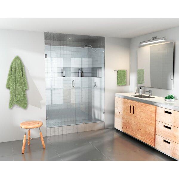 53.5 x 78 Hinged Frameless Shower Door by Glass Warehouse