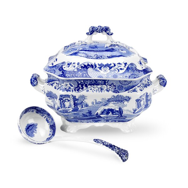 Blue Italian Tureen by Spode