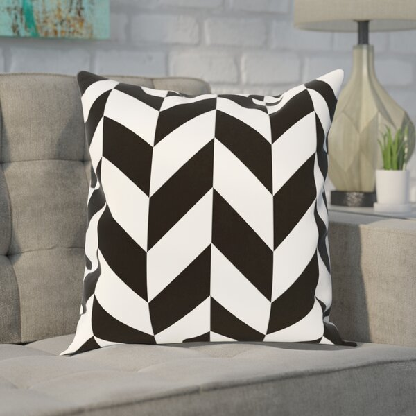 Carnell Chevron Throw Pillow by Wrought Studio