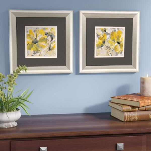Buttercup 2 Piece Framed Painting Print Set by Red Barrel Studio