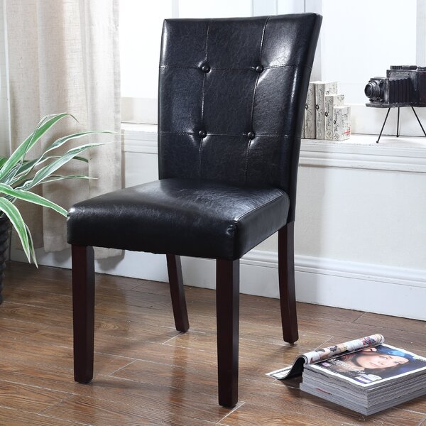 Faux Leather Side Chair (Set of 2) by BestMasterFurniture