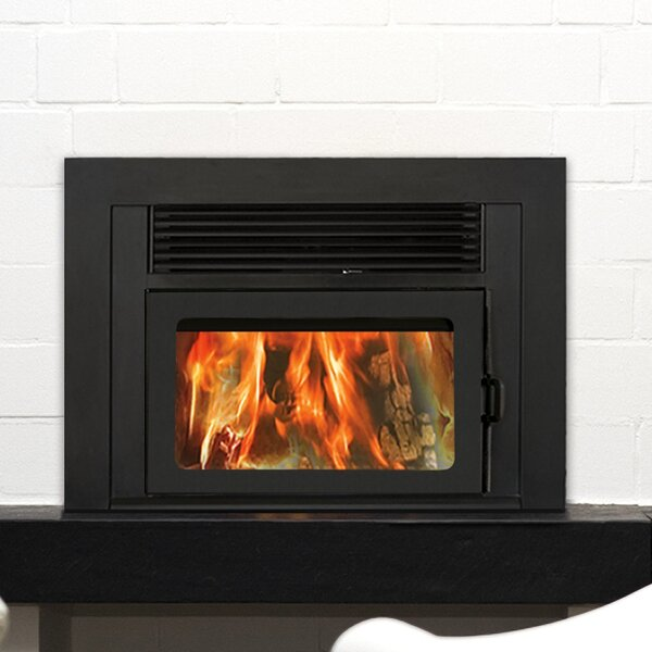 Volcano Plus Wood Burning Fireplace Insert by Supreme Fireplaces Inc.
