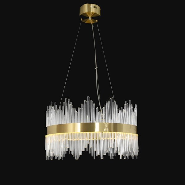 Shumaker 20 - Light Unique / Statement Wagon Wheel LED Chandelier by Everly Quinn Everly Quinn