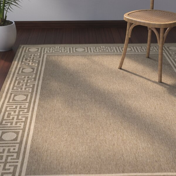 Amaryllis Coffee/Sand Indoor/Outdoor Area Rug by Bay Isle Home