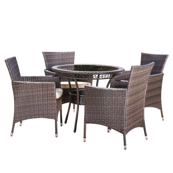 Berumen 5 Piece Dining Set with Cushions by Brayden Studio
