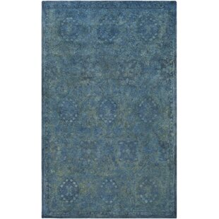 Comparison Harlowe Hand-Tufted Wool Sage/Navy Area Rug By Bungalow Rose