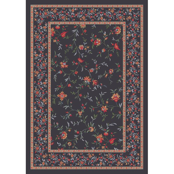 Pastiche Hampshire Floral Ebony Rug by Milliken