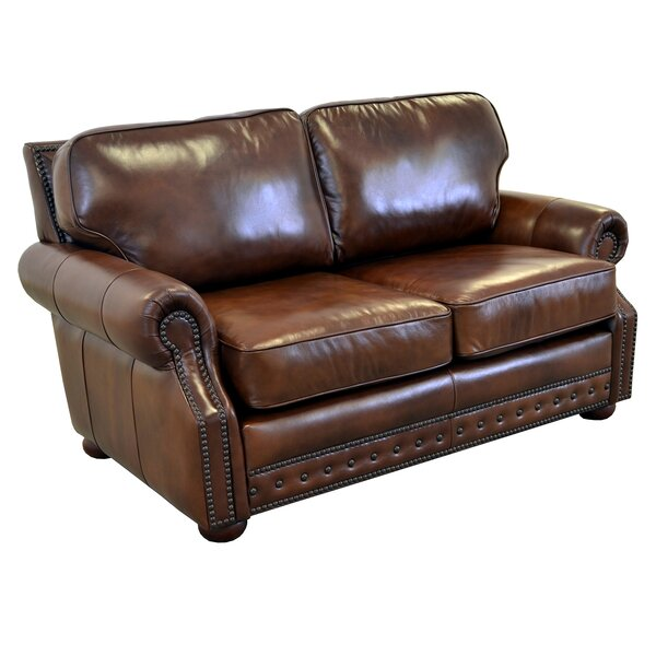 Middleton Leather Loveseat By Westland And Birch
