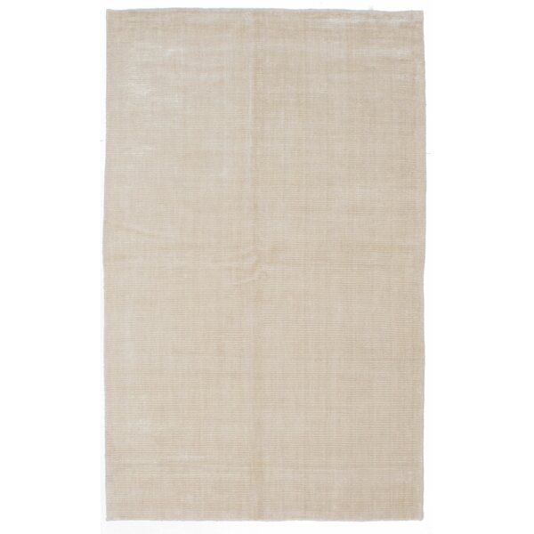 Don Hand-Knotted Cream Area Rug by Latitude Run
